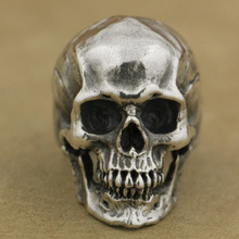 New Retro Punk Skull Ring Rock Car Crack Halloween Men and Women Personality Jewelry Gift
