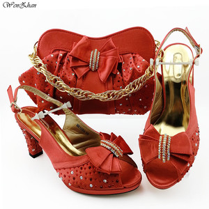 Image 4 - Italian Women Shoes 8.5cm And Bag To Match Set Royal blue Color Nigerian High Heels Party Shoes And Bag Set 38 43 B98 5