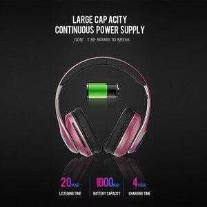 Image 2 - Casque sans fil pliable lumière LED 3D stéréo Hi Fi Gaming Bluetooth casque sport musique écouteurs écouteurs 20H temps de jeu