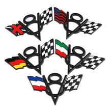 V8 3D Metal Badge USA UK Germany Flag Truck Boot Car Sticker Universal fit for Chevrolet Chrysler Ford Black/Chrome