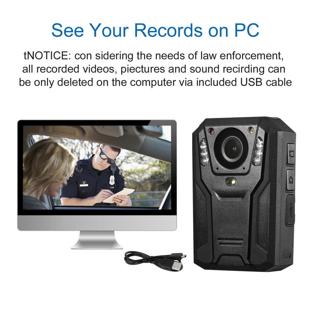 LESHP 1296P Full HD Waterproof Police Body Camera Security Gadget With 2 Inch Display Night Vision GPS Motion detection Pakistan