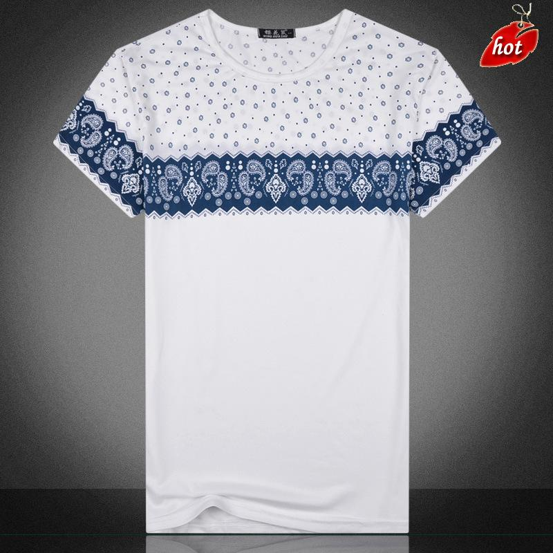 Men T-shirt 2017 New Fashion T-shirt Men Letter Printing Men O-Neck Short Sleeve T Shirt Good Air Permeability ElasticTops O8R2