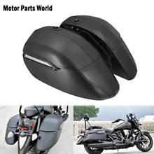 Universel moto classique sacs durs sacoches et support robuste noir pour Kawasaki pour Honda pour Harley Touring Softail