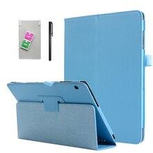 Умный кожаный чехол для Huawei MediaPad T5 10, чехол для планшета с подставкой + пленка + ручка, 10,1 дюйма, L03, W09, W19