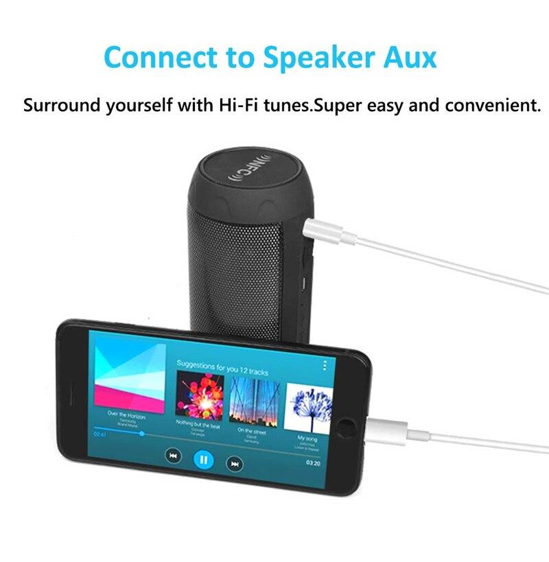 Освещение до 3,5 мм Jack аудио удлинитель Aux Шнур для IPhone 11 Pro XS Max XR X 10 8 7 Plus Автомобильный Динамик Разъем для наушников