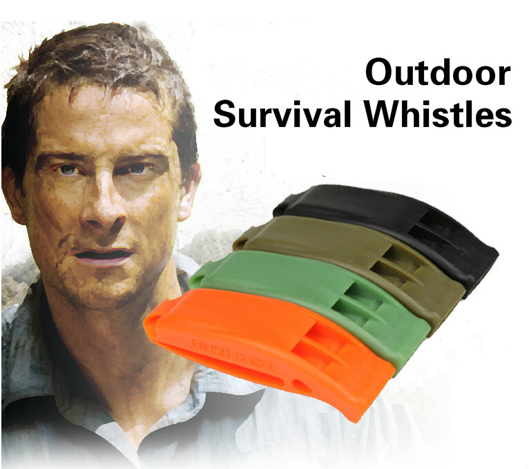 4 Color Tactical Survival Sentinel Hikes Loud Plastic Dual Band Match Whistle Outdoor Rescue Emergency Loud Whistle