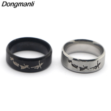 F127 New Punk Style Rings Steampunk US Movie Never Grow Up Peter Pan Ring Mans Gifts Jewelry For Fans Fashion Moive