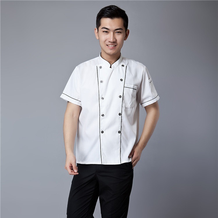 New Style Hotel Chef Clothing Short Sleeve Western Restaurant Canteen Kitchen Chef Work Clothes Workwear Uniform