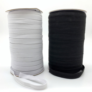 5yards/Lot 3/6/8/10/12mm White/Black High Elastic Sewing Elastic Band Fiat Rubber Band Waist Band Stretch Rope Elastic Ribbon