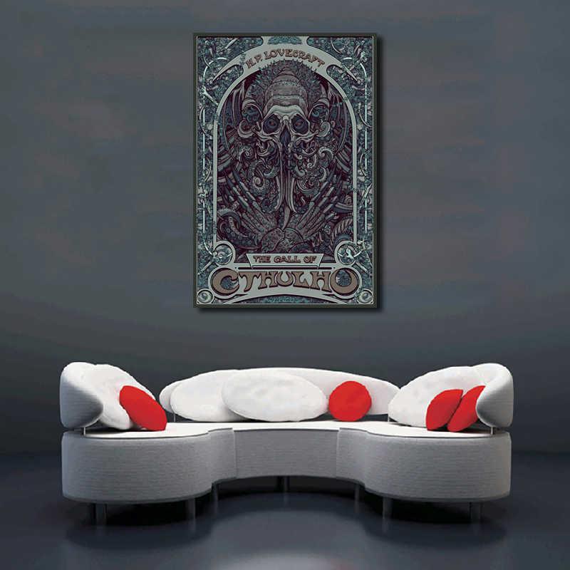 Cthulhu Kain Poster One Piece Lovecraft Cthulhu Art Nouveau Lukisan Kanvas Cetak Dinding Seni Gambar untuk Living Room Dekorasi