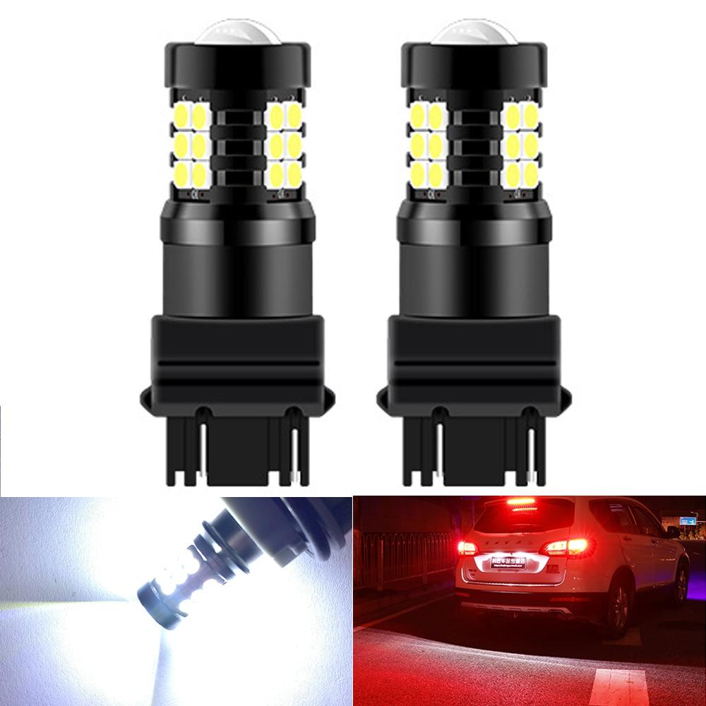 2 uds T15 1156 BA15S P21W PY21W BAU15S 3157 3156 T20 7443 W21/5W bombilla LED tipo CANBUS luz de freno de coche Luz de marcha atrás de coche 12V 24V
