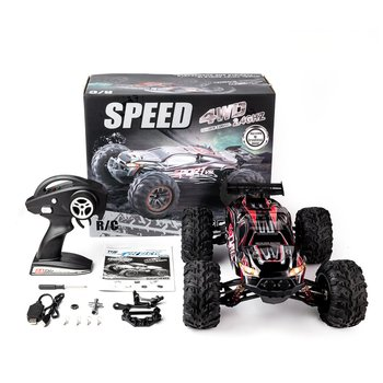1/10 Scale 2.4Ghz 4WD 60 km/h High Speed RC Bigfoot Big Wheels Off-Road Rock Race Truck Electric RC Remote Control Car Model Toy