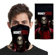 Headwear Masks Hoodie Scarf Bandanas Magic Seamless Balaclava Casa-De-Papel-Mask Fullface-Shield