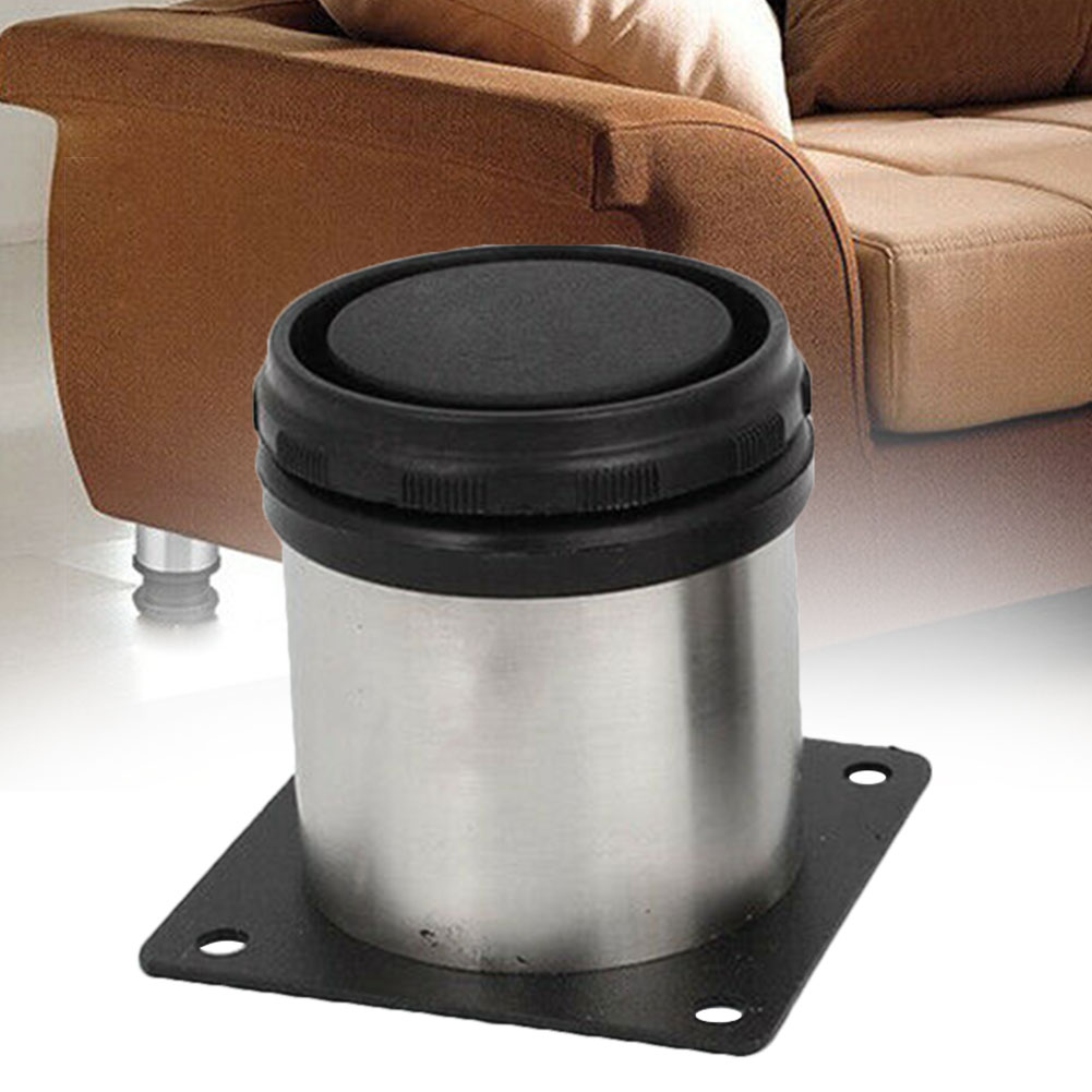 4 Pcs Sofa Bed Leg Easy Install Wear Resistant Adjustable Height Rustproof Home TV Cabinet Multipurpose Floor Stainless Steel