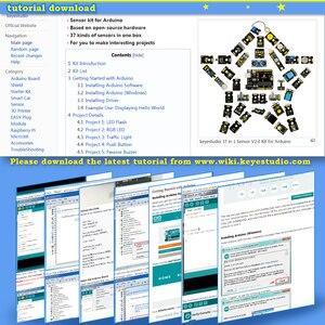 Image 5 - Новинка 2020! Keyestudio новый сенсорный стартовый комплект V2.0 37 в 1 коробка для Arduino UNO стартовый комплект