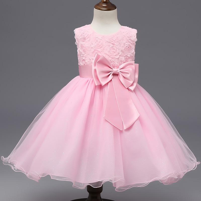Summer Kids Baby Girls Princess Party Dress Sleeveless Tutu Flower Dresses 2-10Y