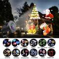 Водонепроницаемый движущийся лазерный проектор лампы 12 моделей светодиодный сценический светильник на Рождество Новый год вечерние свети...