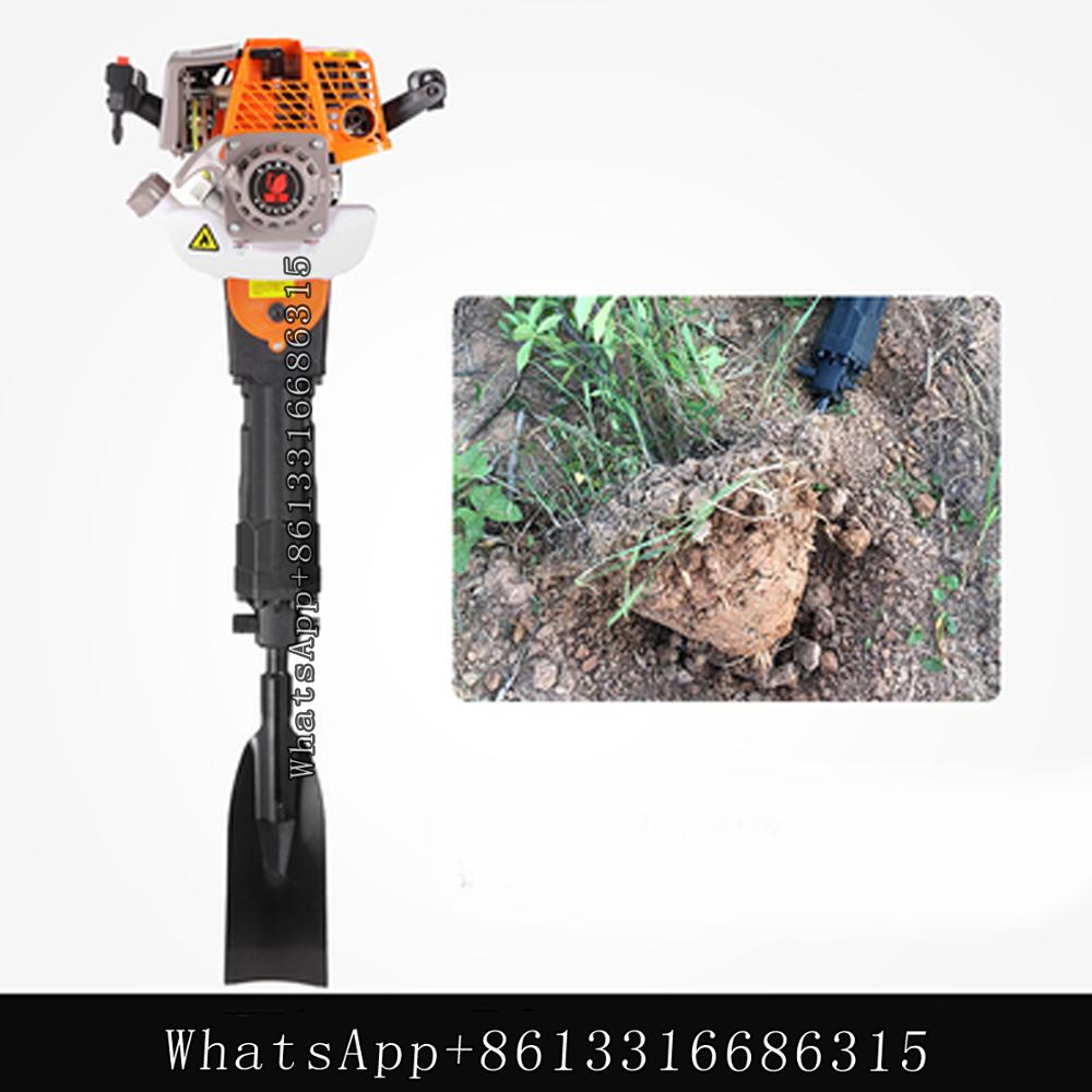 Tools : 4 stroke tree digger tree lifter seedling lifter root cuttingtrenching and tree moving machine earth digging ball gasoline pick