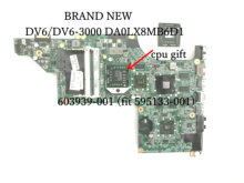 BiNFUL STOCK , NEW item ,603939 001 DA0LX8MB6D1 FOR HP PAVILION DV6  DV6 3000 LAPTOP MOTHERBOARD ,HD 5650 1GB +FREE PROCESSOR