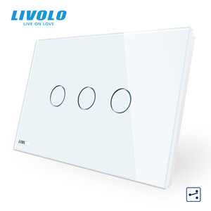 Image 3 - LIVOLO US C9 Standard Touch Screen Wall Light Switch,2 Ways Cross Through Control,Crystal Glass Panel,Up Donw Stair