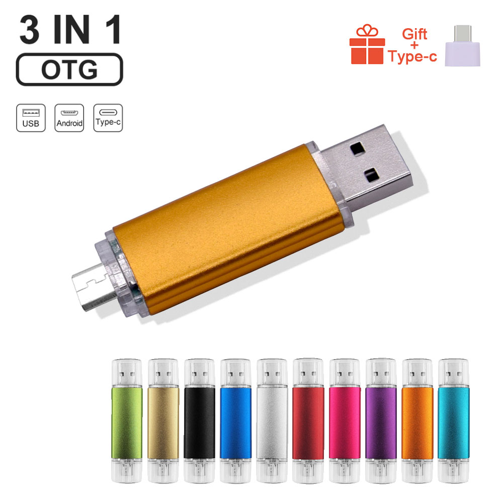 Flash-Drive Gifts Custom-Logo 128MB Colourful Usb-2.0 Android Smartphone/pc Otg Usb