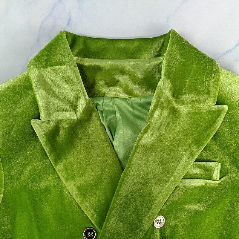 Image 4 - TWOTWINSTYLE Elegant Womens Blazer Notched Long Sleeve Double  Breasted Pocket Female Suits Clothing Autumn Fashion  New 2020Blazers