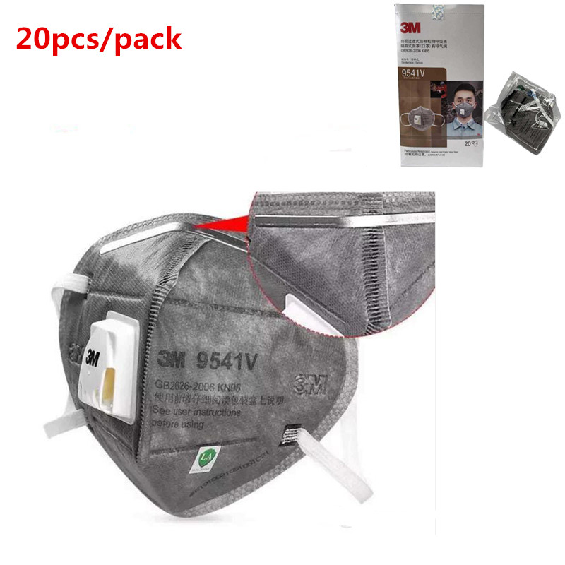 20pcs 9541V KN95 Anti Virus Infection Mask Reusable N95 Particulate Respirator Protective Filter Masks Safety PM2.5 Mask