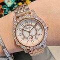 Женские часы 2019 Топ люксовый бренд модные часы с кристаллами кварцевые женские наручные часы для женщин Relogio Feminino