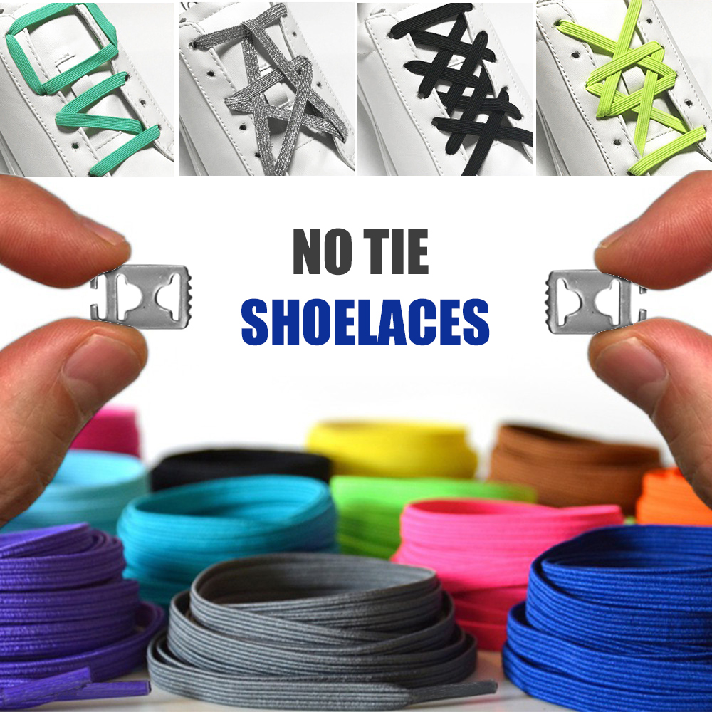 Universe No Tie Shoelaces Colorful Elastic Laces Stainless Steel Buckle Shoelaces System For Adults And Kids One-size Fits All