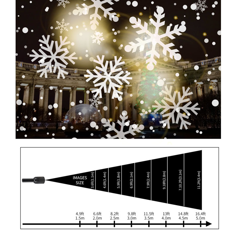 Image 5 - 4W Snowflake Pattern LED Laser Projector Lights 85V 240V Holiday Home Party Decoration Christmas Projector DJ Light Stage Lamp on