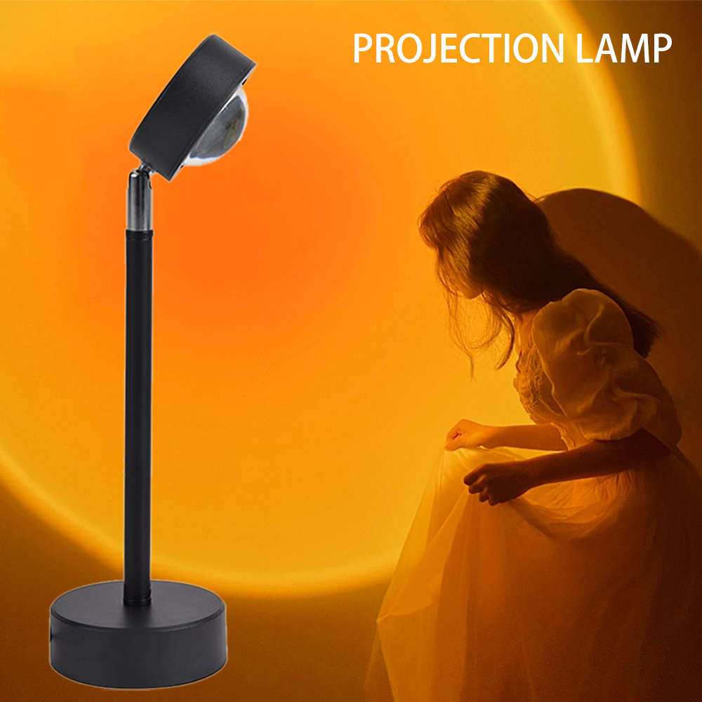 Sunset Projector Lamp USB Rainbow galaxy Atmosphere Led Night Light Home Coffe Shop Background Wall Decoration Colorful Lamp