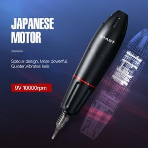 Image 2 - Yeni döner dövme tabancası güçlü Motor kaynağı yüksek kalite kartuşları dövme kalem malzemeleri