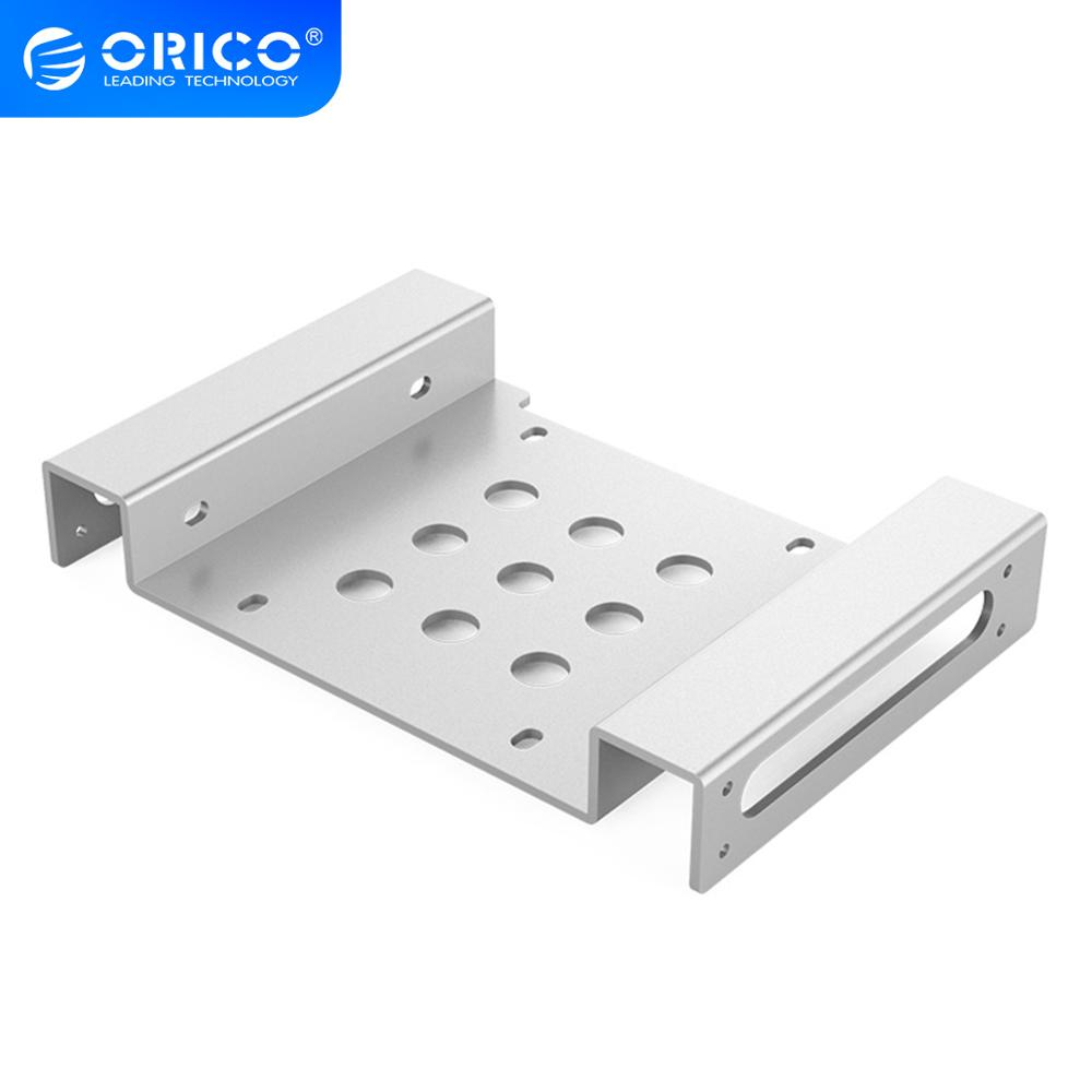 ORICO <font><b>5.25</b></font> inch <font><b>to</b></font> <font><b>2.5</b></font> or 3.5 Inch Hard Disk Drive Mounting Bracket Dock with Screws Hard Drive Holder For HDD SSD image