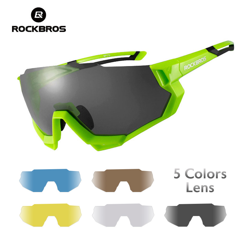 Riding Sunglasses ROCKBROS Eyewear Bicycle Bike Outdoor Polarized Photochromic Road Goggles
