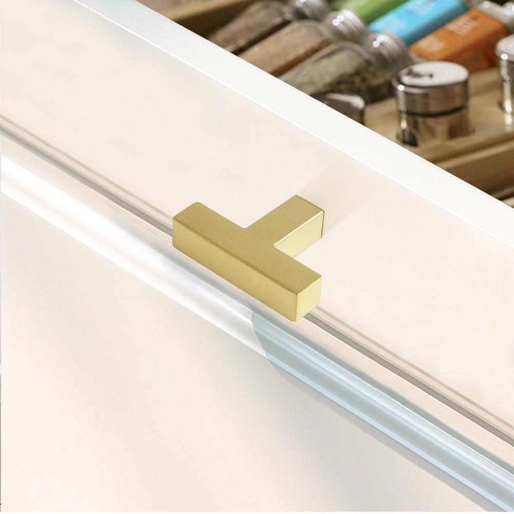 Купить с кэшбэком Probrico Black Cabinet Handles and knobs Gold Square Furniture Pulls Long Kitchen Door handles Cupboard Wardrobe Drawer Pulls