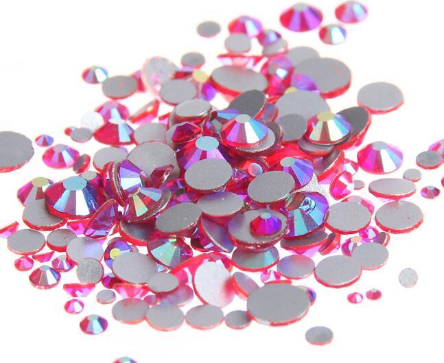 Lt.Siam AB ss3,ss4,ss5,ss6,ss8,ss10,ss12,ss16,ss20,ss30 плоский кристалл без горячей фиксации клей для дизайна ногтей на Стразы
