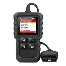 Lansmanı X431 Creader 3001 tam OBDII EOBD kod okuyucu tarayıcı CR3001 araba oto teşhis aracı İngilizce