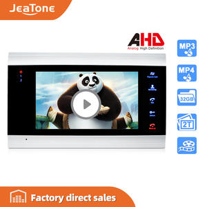 Video-Intercom Monitor-Only Phone-Security-System Voice-Message/motion-Detection 720P/AHD