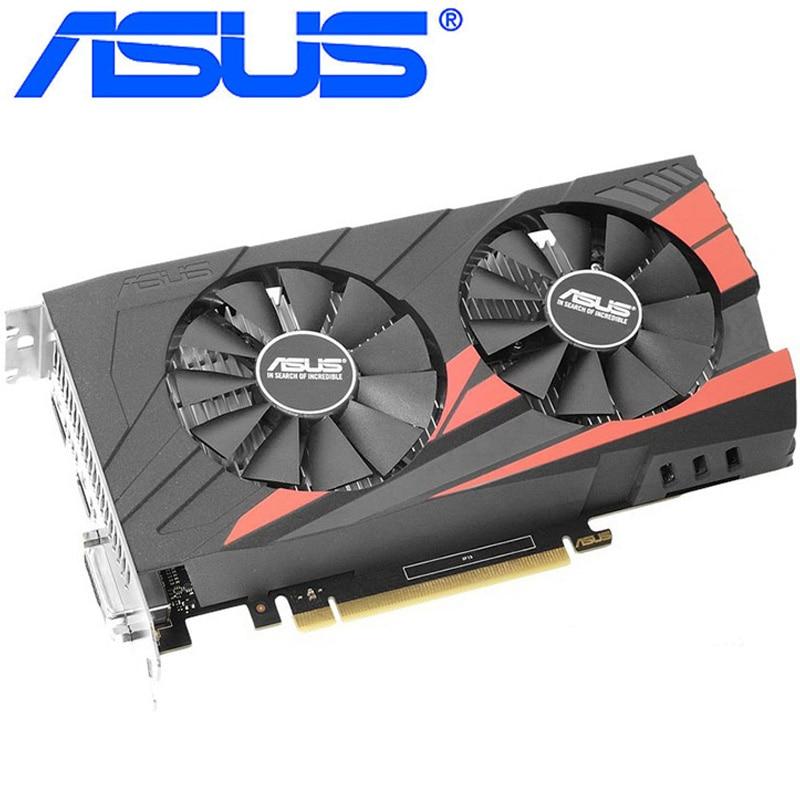ASUS Video Card Original GTX 1050 Ti 4GB 128Bit GDDR5 Graphics Cards for nVIDIA VGA Cards Geforce GTX 1050ti Hdmi Dvi game Used 2