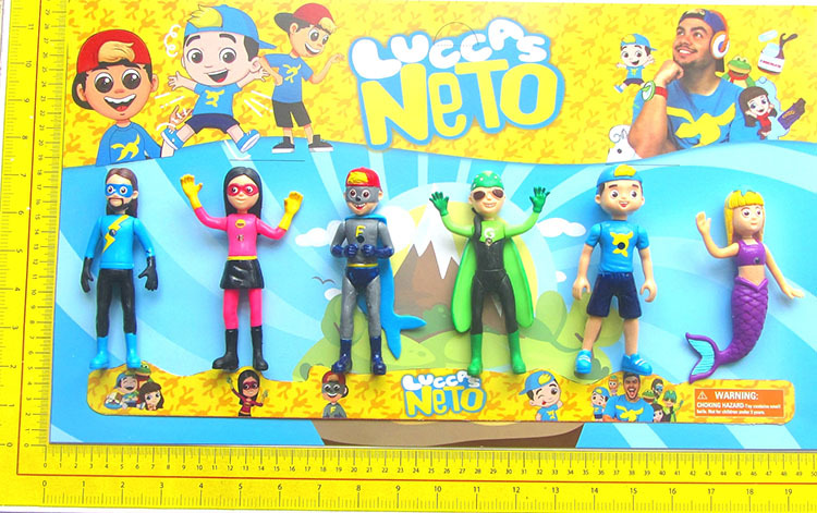 Luccas NETO Action Figure Toys 14cm Doll With Light Hands And Feet Can Be Rotated Model Toy For Kids Birthday Christmas Gift