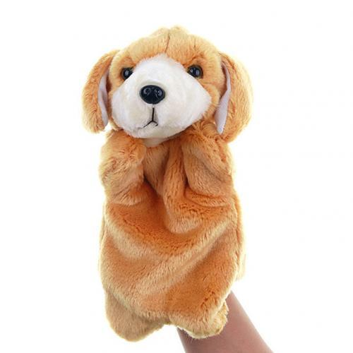Cute Dog Puppy Animal Plush Hand Puppet Doll Pretend Play Parent Child Toy Pillow Lovely Gift for Kid Baby Children Good Quality