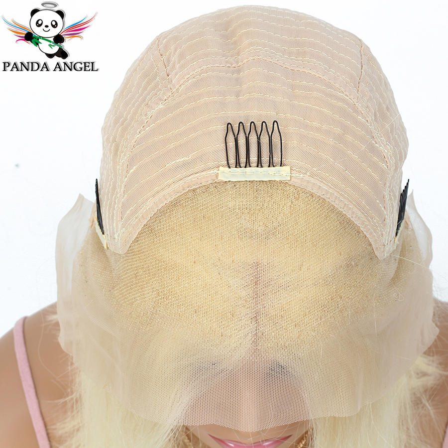 Image 3 - Panda #613 Blonde Lace Frontal Human Hair Wigs Brazilian Straight 13*4 Lace Frontal Wig Pre Plucked Honey Blonde Remy Lace Wigs-in Lace Front Wigs from Hair Extensions & Wigs