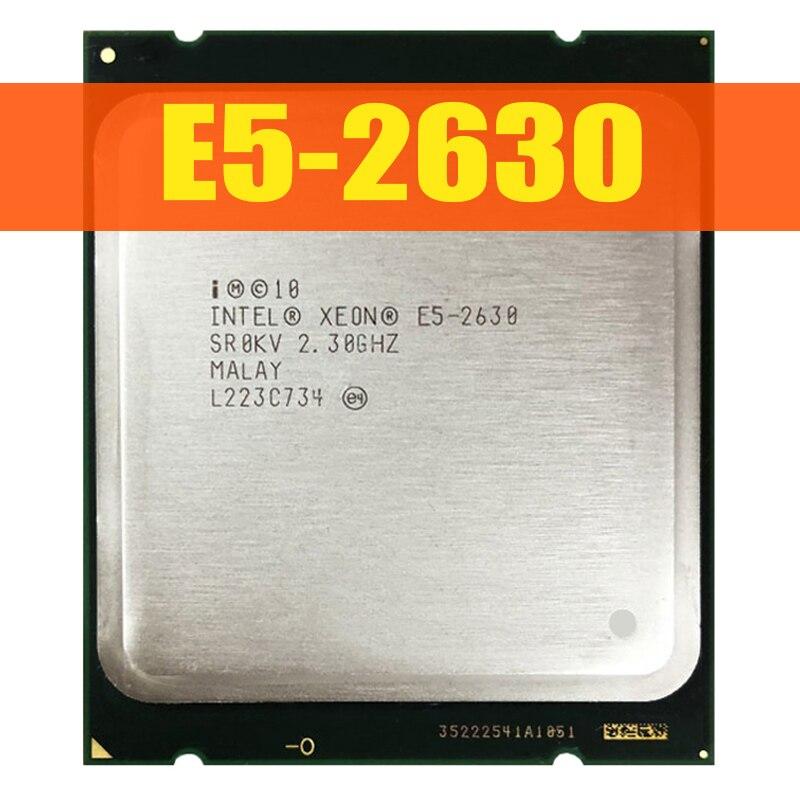 Xeon E5-2630 6 Core Processor 2.30Ghz 15MB Smart Cache 7.20 GT/S QPI TDP 95W SR0KV LGA2011 E5-2630 Processore CPU
