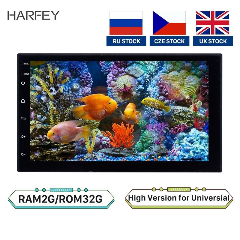 "Harfey voiture universelle 2Din Android 8.1 Radio stéréo HD Navi 7 ""lecteur multimédia GPS pour VW Nissan Kia Bluetooth Autoradio 2 + 32GB"