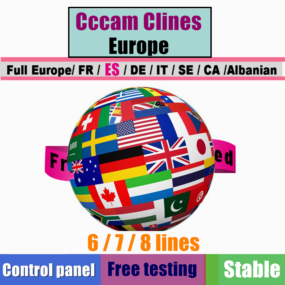 HD 7 Cline 8 Cline For 1 Year Europe Cccams Free Satellite Account Share Sever Italy/Spain/French/GermanyTV Paypal 6 Cable