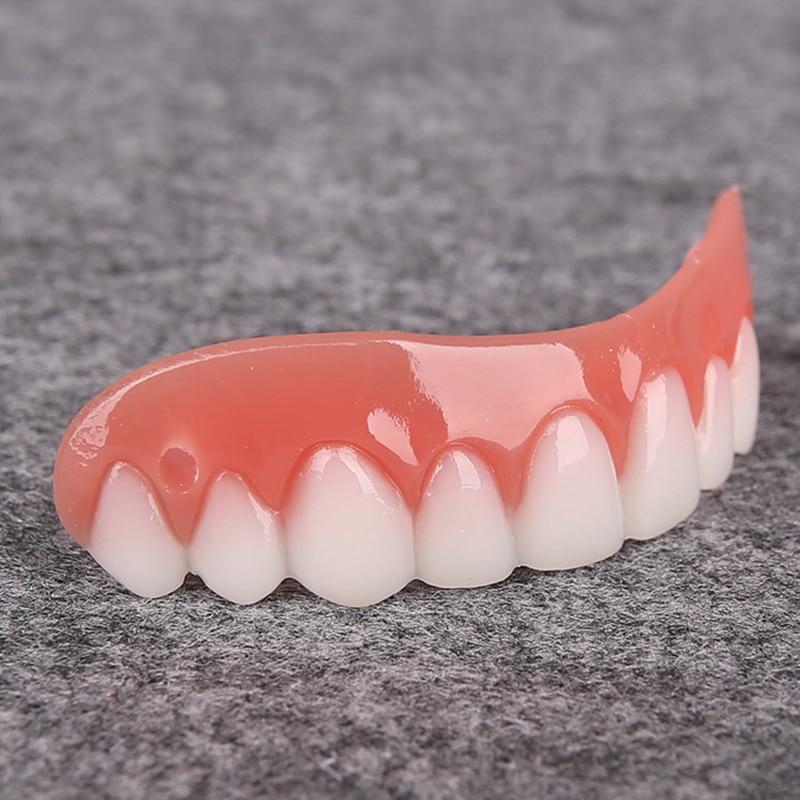 Upper White Teeth Set Silicone Artificial Denture Set