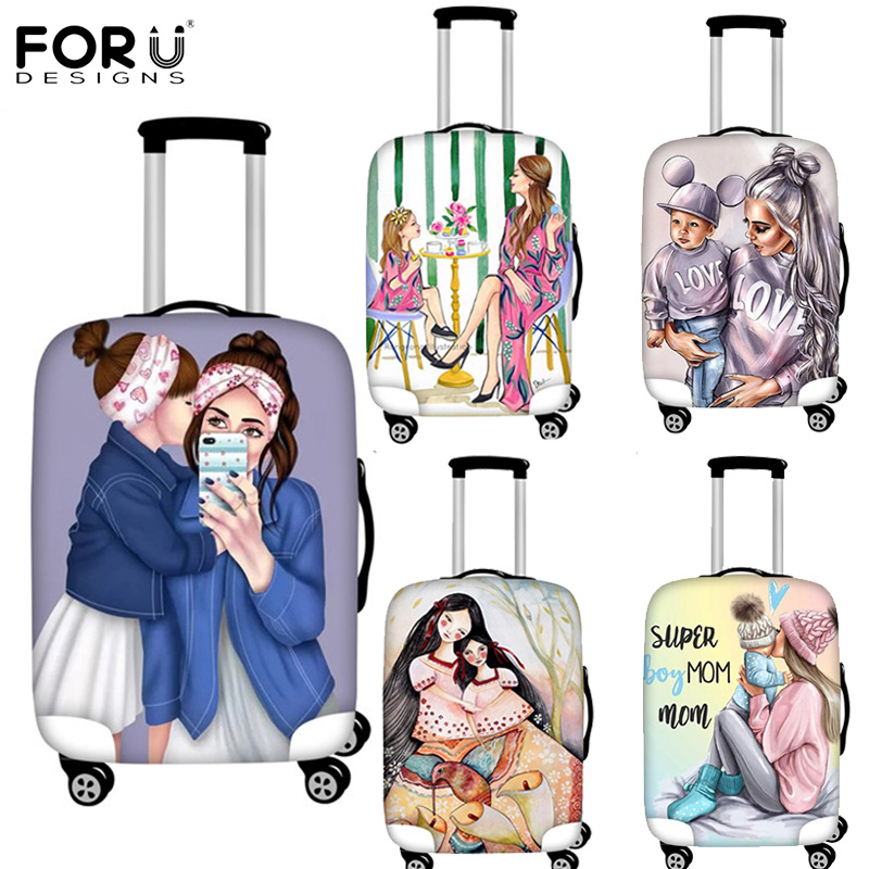FORUDESIGNS Luggage Protective Cover For Super Mama Anti-Scratch Luggage Cover For 18