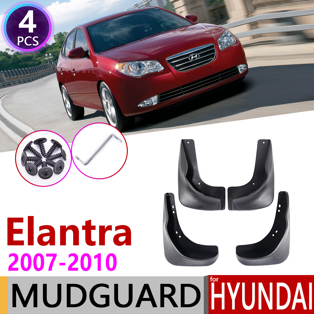 Car Mudflaps For Hyundai Elantra HD 2007 2008 2009 2010 Fender Mud Guard Flap Splash Flaps Mudguards Accessories 4th 4 Gen