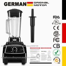 100% تكنولوجيا السيارات الألمانية 3HP 2200 واط BPA الحرة 2L عصارة خلاط عصير الجليد وعصارة منتج أغذية خلاط تجاري