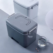 Модная Портативная Медицинская коробка для хранения двухслойная